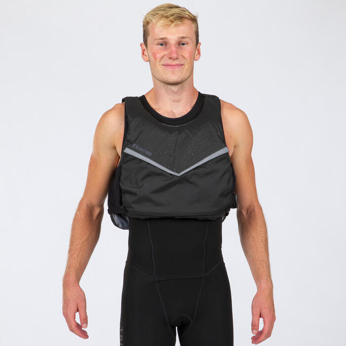 Dinghy Sailing 50N buoyancy aid vest 500 - Black