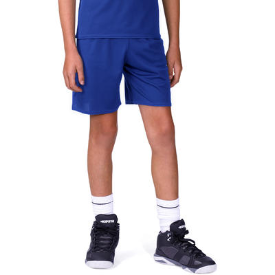 Short basketball enfant B300 bleu