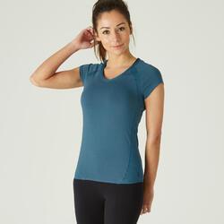 女款T恤520 - 藍綠色