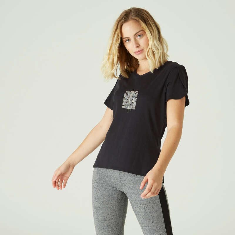 NŐI PÓLÓ, LEGGING, RÖVIDNADRÁG Fitnesz - Női póló 515-ös NYAMBA - Fitnesz ruházat és cipő