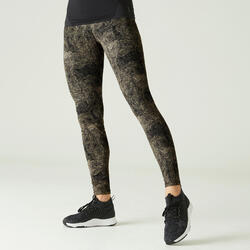 Shaping Cotton Fitness Leggings - Grey Print