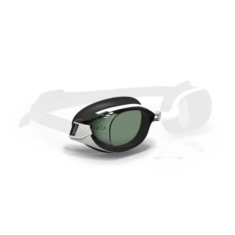 右眼600度輔助泳鏡深色鏡片BFIT