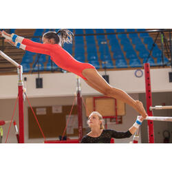 Justaucorps manches longues de Gymnastique Artistique Féminine 500 rose