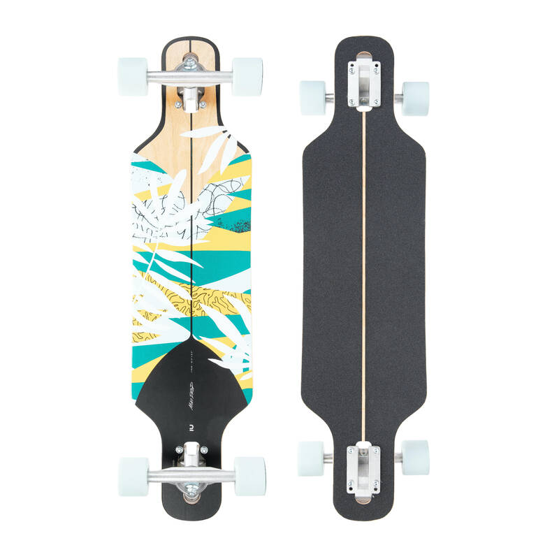 LONGBOARDYSK8 A CRUISERY Skateboarding, longboarding, waveboarding - LONGBOARD 100 DROP MINI FLORAL OXELO - Vybavení na longboard a cruiser