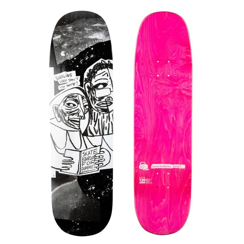 "Tabla Skate DK120 SH T. Knuts Color Negro Arce Tamaño 8,75"""
