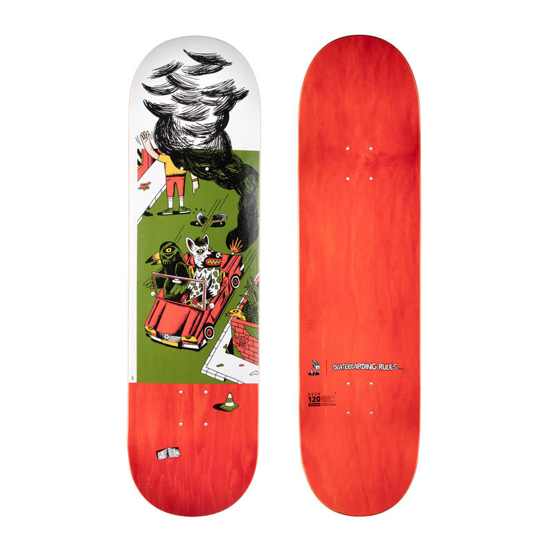 "Skateboard esdoorn DK120 T. KNUTS - Skateboarding Rules"" maat 8.5"""