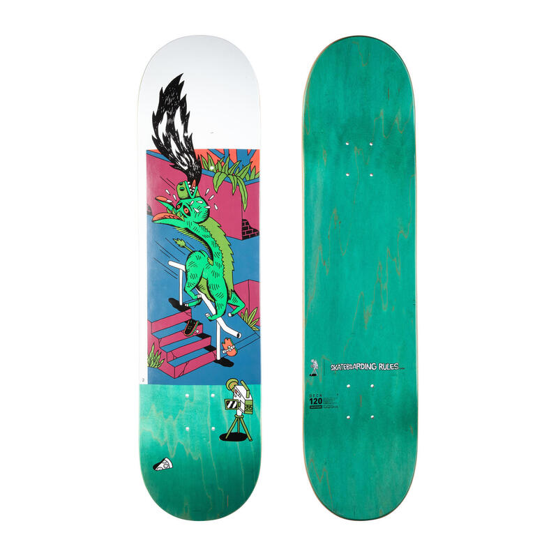 "Skateboard esdoorn DK120 T. KNUTS - Skateboarding Rules"" maat 7.75"""