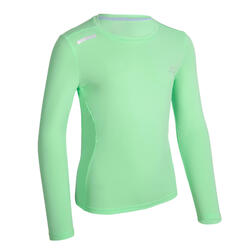 AT 300 Kid's running LS T-shirt UV UPF 50+ - green