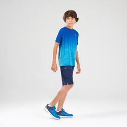 兒童田徑或跑步短袖T恤AT 500 - 漸層藍