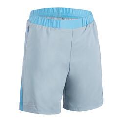 AT 100 Kids' Running and Athletics Baggy Shorts - Denim Blue