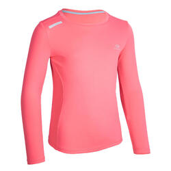AT 300 Kid's running LS T-shirt UV UPF 50+ - pink