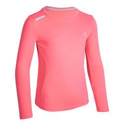 兒童UPF 50+抗UV跑步長袖T恤AT 300 - 粉色