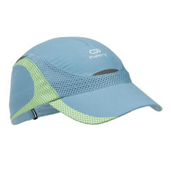 Children's running cap - grey and green