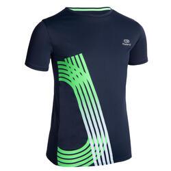 兒童透氣跑步短袖T恤AT 300 - 軍藍色