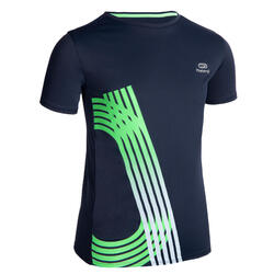 Tee-shirt manches courtes respirant enfant de running AT 300 marine