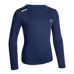 AT 300 Kid's LS running T-shirt UV UPF 50+ - navy blue