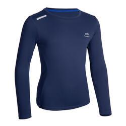兒童UPF 50+抗UV跑步長袖T恤AT 300 - 軍藍色