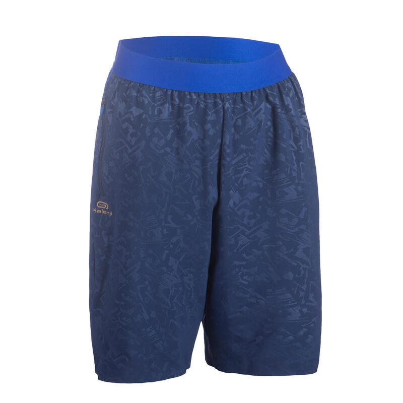 AT 500 SH Boy's baggy running shorts leightweight - navy blue