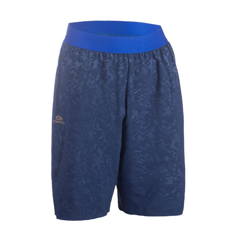 Short de running baggy pour garçon AT 500 SH léger bleu marine