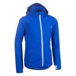 Regenjasje voor hardlopen of atletiek kinderen AT 500 elektrisch blauw