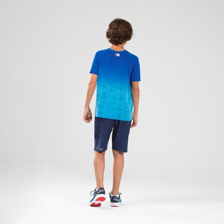 AT 500 Kids' athletics or running SL T-shirt - faded blue