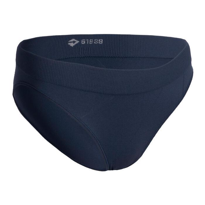 女孩款透氣運動內褲AT 500 - 海軍藍