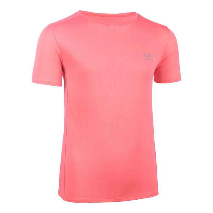 兒童透氣田徑T恤AT 100 - 粉色