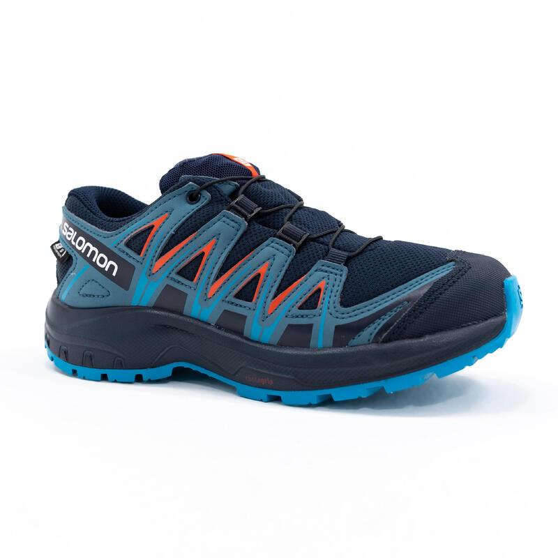 Chaussures imperméables de randonnée - SALOMON XA PRO3D BLEU - Enfant 31-39