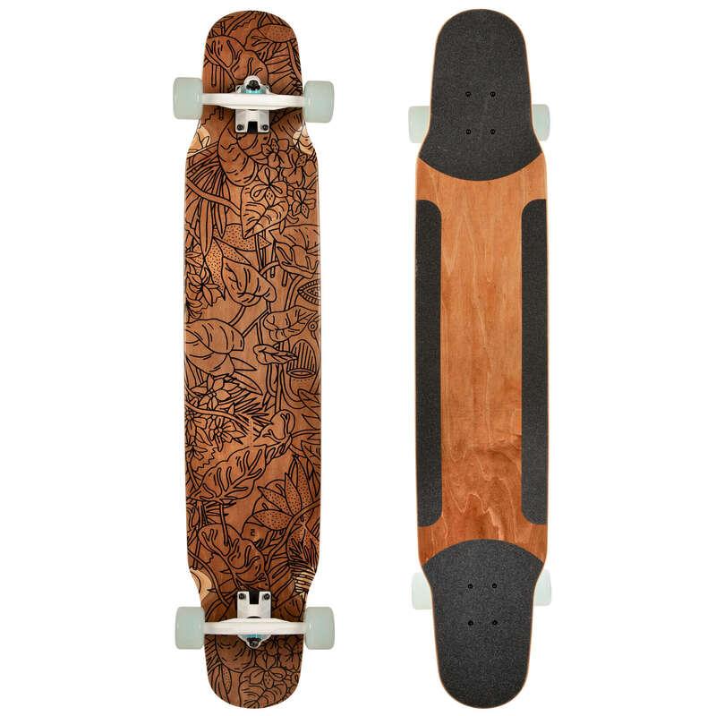 Longboards Trotinete Role Skateboard - Longboard DANCE 100 FOREST OXELO - Skateboard Longboard
