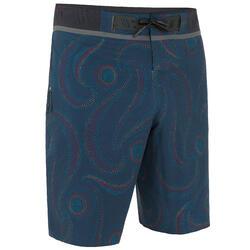 Calções de Praia Surf Compridos 900 Sumba Homem Azul