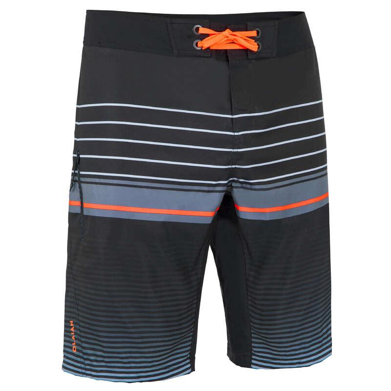 LÅNGA BOARDSHORTS HERR Vattensport och Strandsport - BS500L CLASSICO Herr svart OLAIAN - Badkläder och Strandtillbehör för Surf