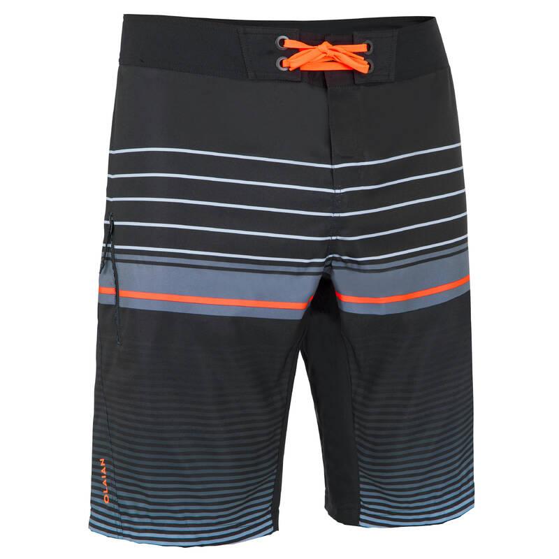 PÁNSKÉ DLOUHÉ BOARDOVÉ ŠORTKY Beach volejbal - KRAŤASY BS500L CLASSICO BLACK OLAIAN - Oblečení na beach volejbal
