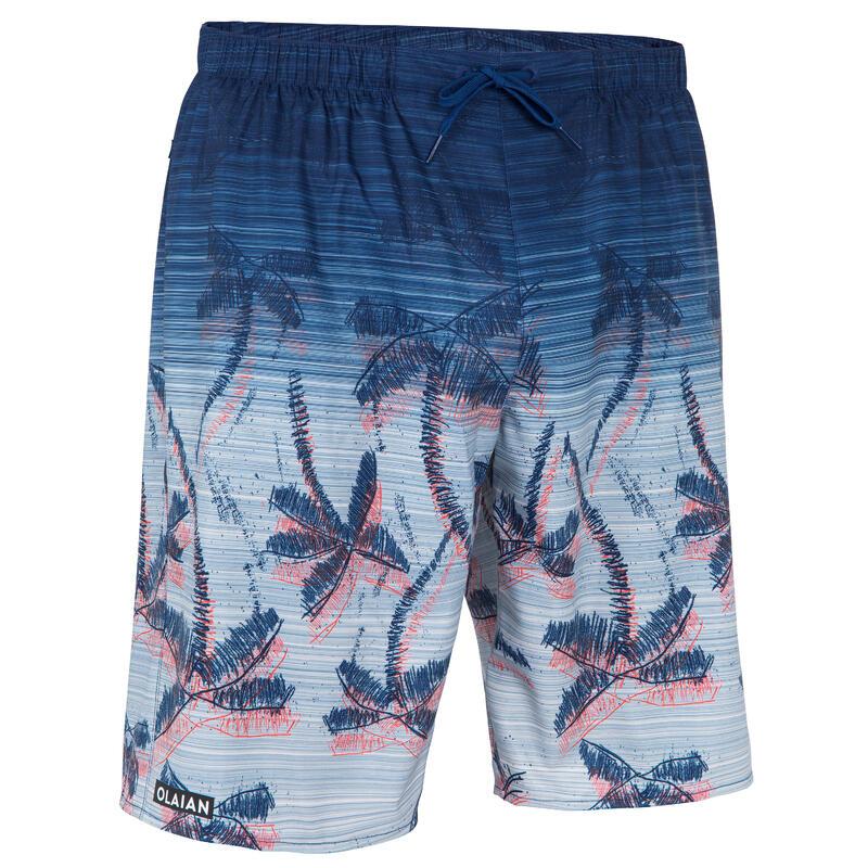 กางเกงชายหาดสำหรับโต้คลื่นรุ่น 100 (สีน้ำเงินลาย Kokoline)