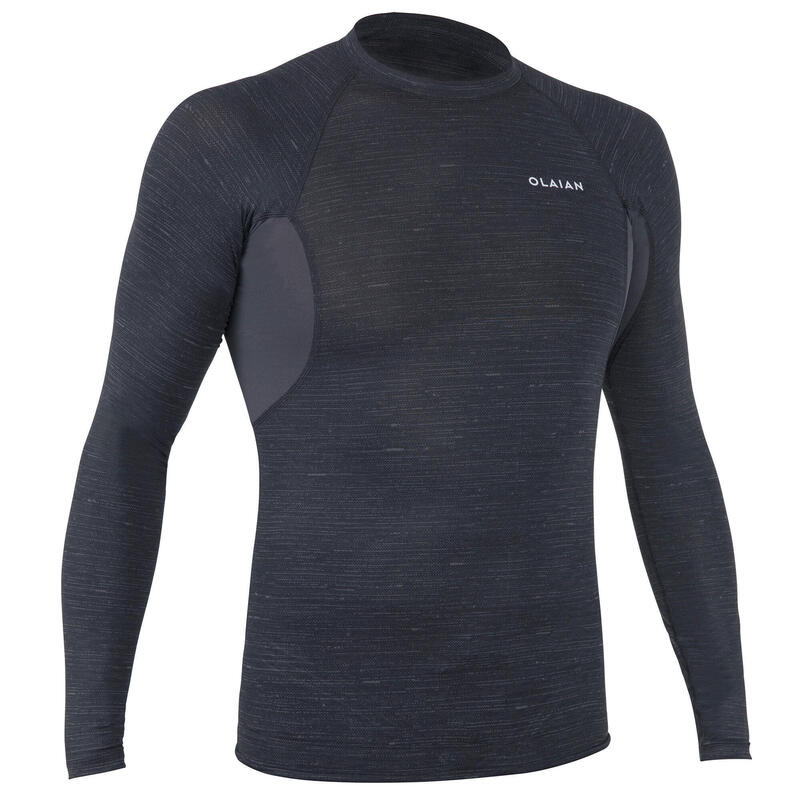 Men's Surfing Long Sleeve UV Protection Top T-Shirt 900 - Black