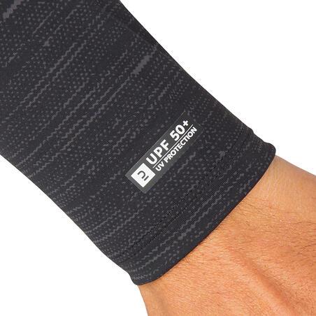 חולצת גלישה ארוכה עם הגנת UV דגם 900 לגברים - שחור
