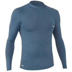 UV-Shirt UV-Top langarm Surfen 100 Herren grau