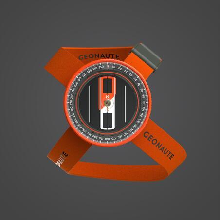 500 MULTISPORT WRIST COMPASS - ORANGE/BLACK