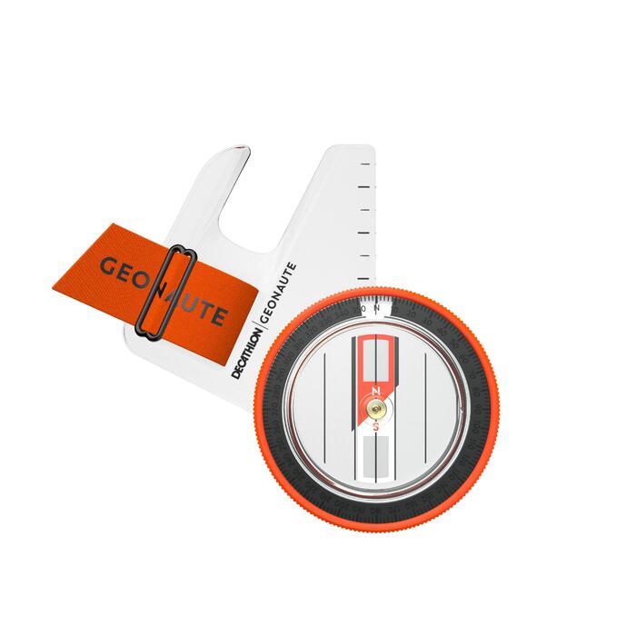 BOUSSOLE POUCE GAUCHE pour course d'orientation RACER 500 noir orange