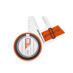 Bussola pollice destro orienteering RACER 500 nero-arancione