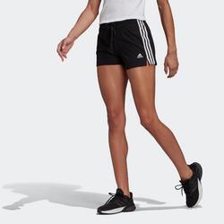 Short voor fitness drie strepen zwart