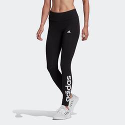 Leggings donna Adidas Linear cotone nero