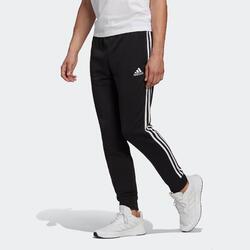 Jogginghose Fitness 3 Streifen Herren schwarz