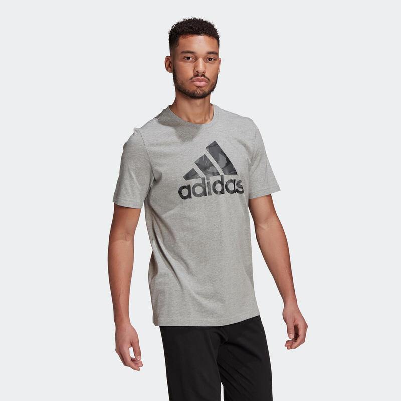 T-Shirt Adidas Fitness Camouflage Gris Chiné