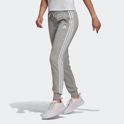Pantalon jogging Adidas Fitness 3 Stripes Gris Chiné