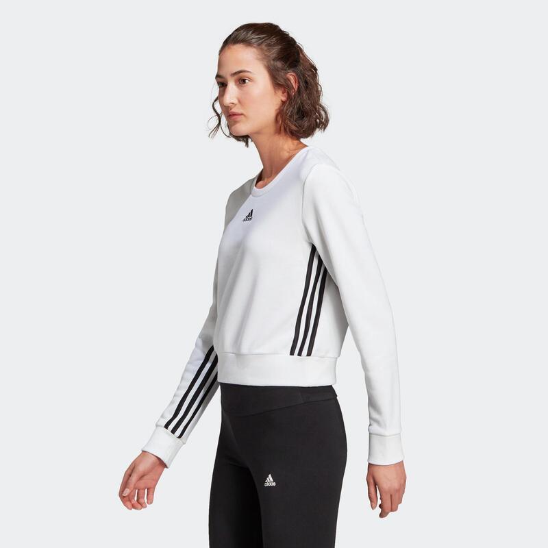 Sweat Court Adidas Fitness 3 Stripes Blanc