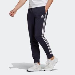 Calças de Ginástica e Pilates Adidas 3 Riscas Azul Marinho
