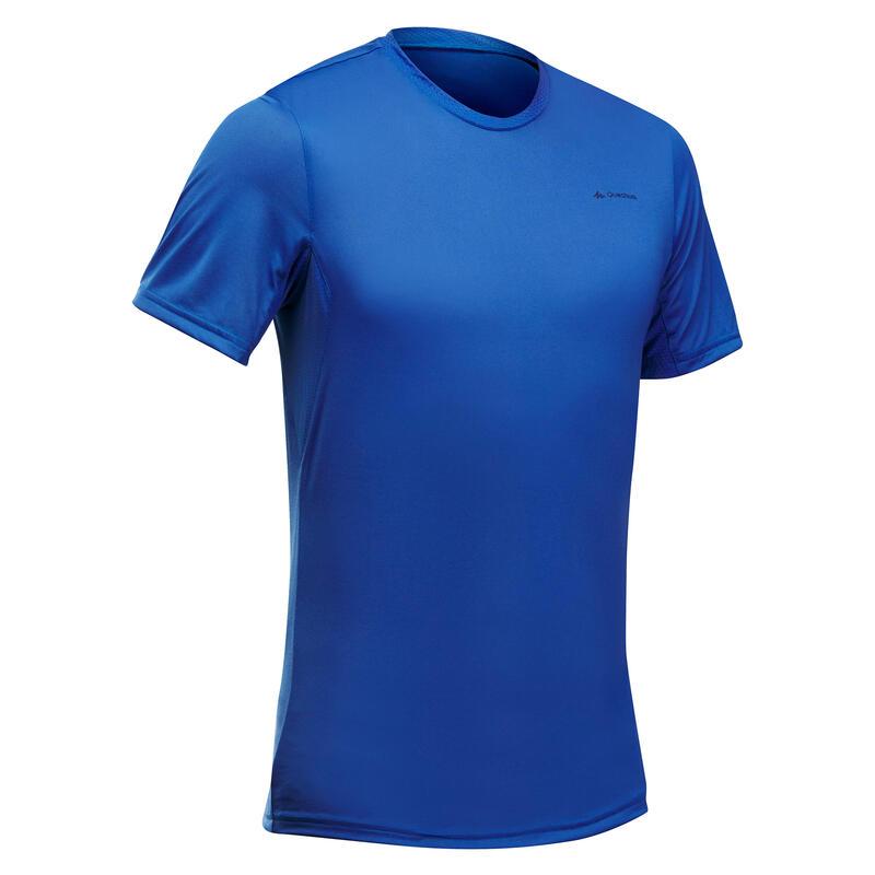 T-shirt montagna uomo MH100 blu