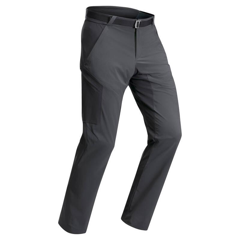 PÁNSKÁ TURISTICKÁ TRIČKA A KALHOTY Turistika - Kalhoty MH 500 černo-šedé QUECHUA - Turistické oblečení