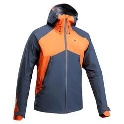 Wanderjacke Bergwandern MH500 wasserdicht Herren blau/orange