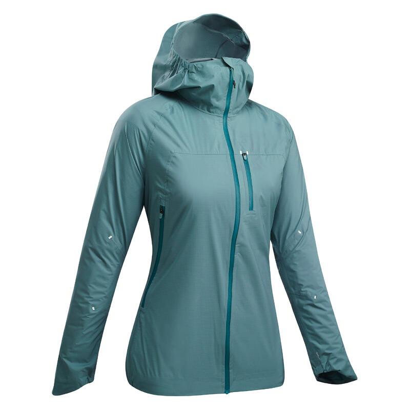 Chaqueta impermeable ultra ligera de senderismo rápido - FH500 rain - mujer